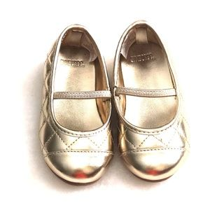 ✨New Gold Toddler Sz 6 Ballet Shoes Gymboree ✨